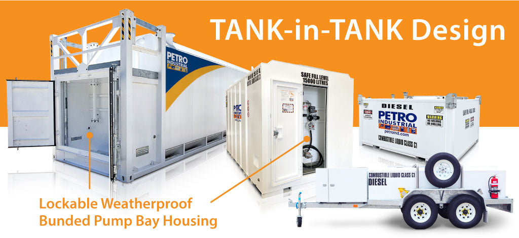 """PETRO's Self Bunded, """"Tank-in-Tank"""" design range of products"""