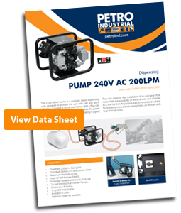 Piusi Pumps ST200 Fuel Pump Data Sheet
