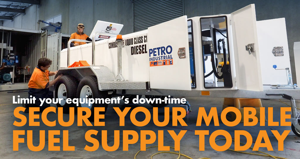 Limit your equipments down time with a PETRO Self Bunded Fuel Trailer