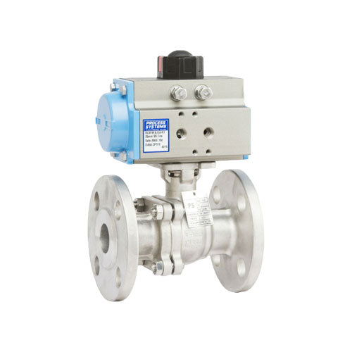 PETRO 316 SS Actuated Ball Valves - 2 Piece Fire Safe Full Bore Flanged 150#