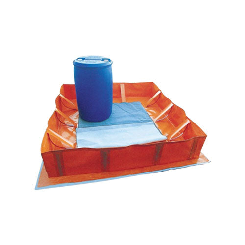 Collapsible Orange PVC Bund Range - 900gsm Thickness