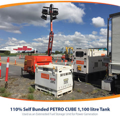 PETRO Cube 1,100L configured for power generation