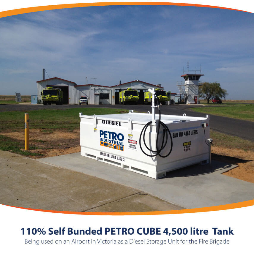 PETRO Cube 4,500L used at at a fire station