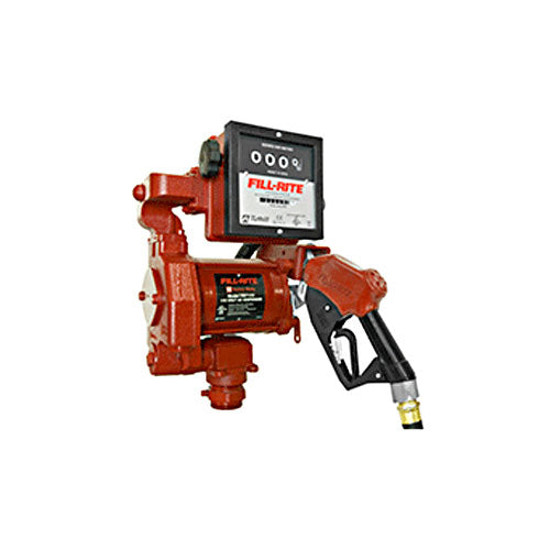 "FILL-RITE FR711VA Pump with Hose, 1"" Hi Flow Automatic Nozzle & 901 Gallon Meter - PETRO"