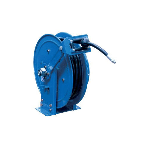 Macnaught Grease Twin Pedestal Spring Rewind Hose Reel - PETRO