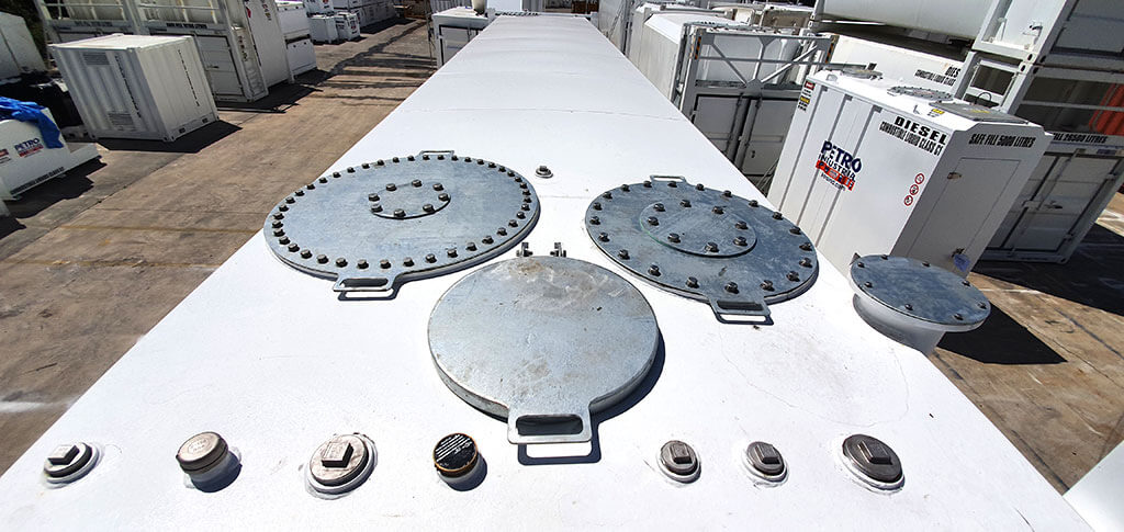 PETRO Industrial's FT Tank Roof with manways and additional connections points.