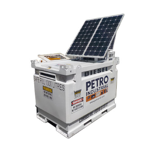 PETRO Industrial - Solar Panel Kit on Cube Tank