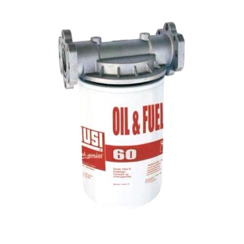 PIUSI Oil and Fuel Filter - 60lpm, 10µm, Particulate