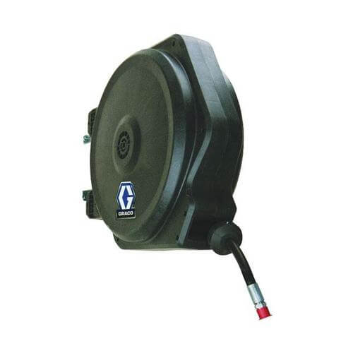 GRACO LD SERIES HOSE REEL - Water / Air / Coolant, Spring Rewind, 10mm id x 15m Hose