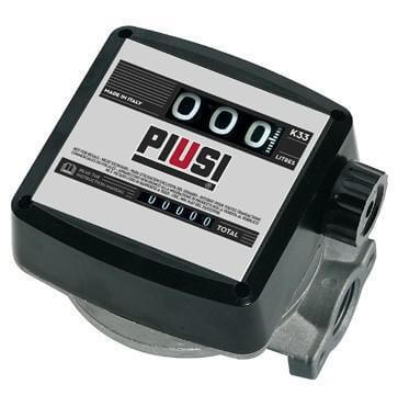 FLOW METER K33 PIUSI 3 Digit Mechanical 25mm FF 20-120lpm Litre Display - 000550000-CATA