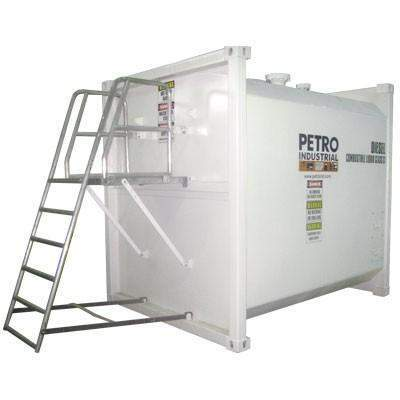 PT series self bunded bulk fuel tank with step ladder