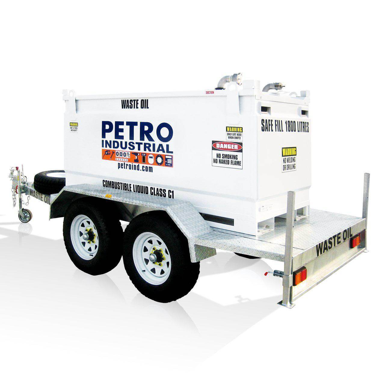 FUEL TRAILER PETRO Self Bunded Tank Cube Style Galvanised Dual Axle – TRAILER-CUBE-2000
