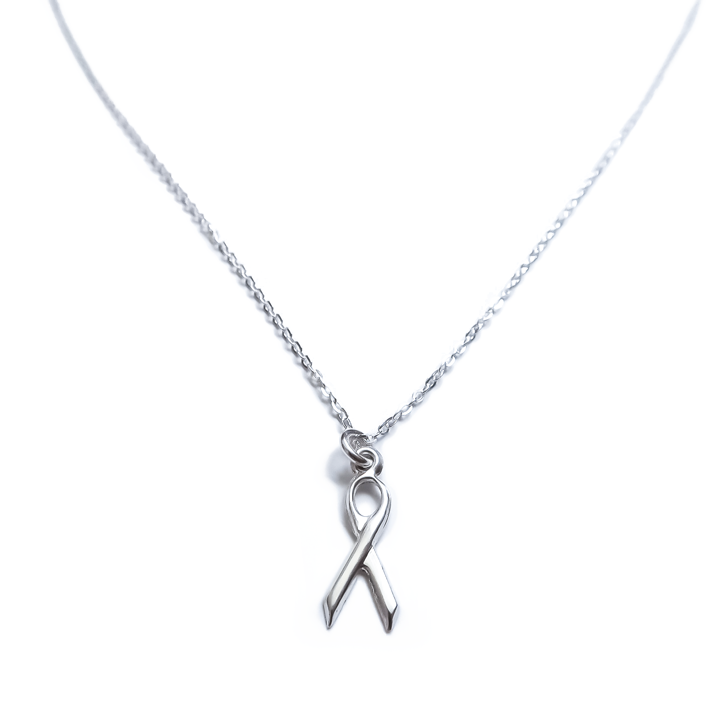 Awareness Ribbon Sterling Silver Necklace