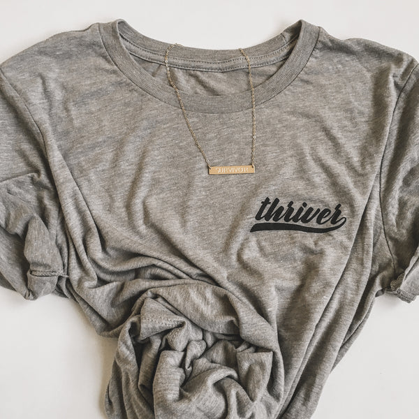 Team Thriver Relaxed T-Shirt -  Grey/Black