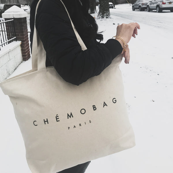 "Canvas ""CHEMOBAG"" Tote"