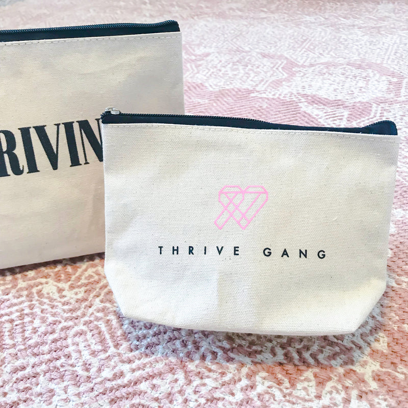 THRIVE GANG LOGO SMALL CANVAS POUCH