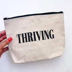 """THRIVING"" CANVAS MEDIUM POUCH"