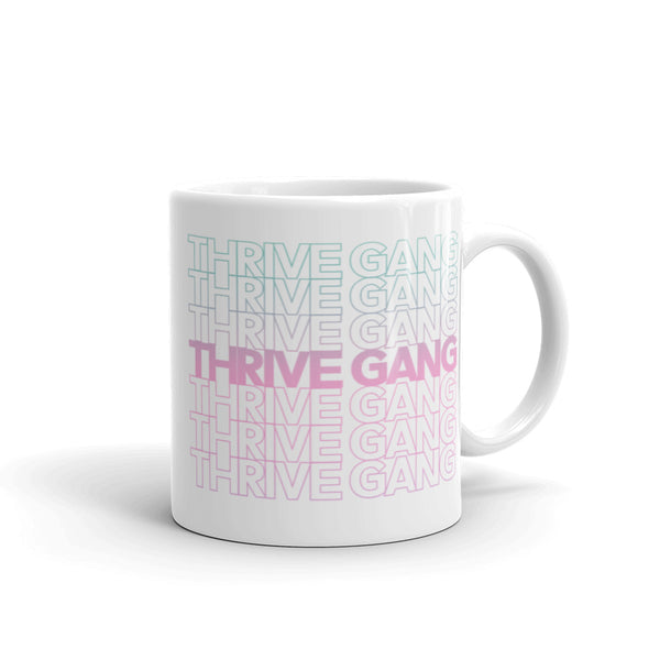 """Thank You"" Thrive Gang - White Mug"