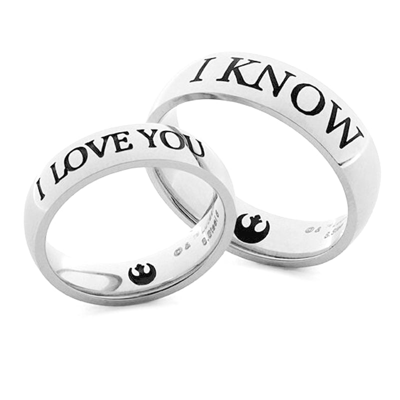 Star wars Ring Set I Love You I Know Star Wars Addicts