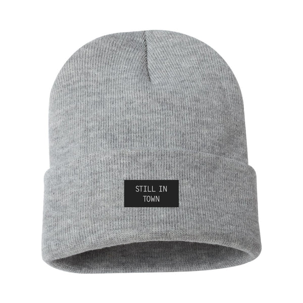 Still in Town Woven Label Beanie
