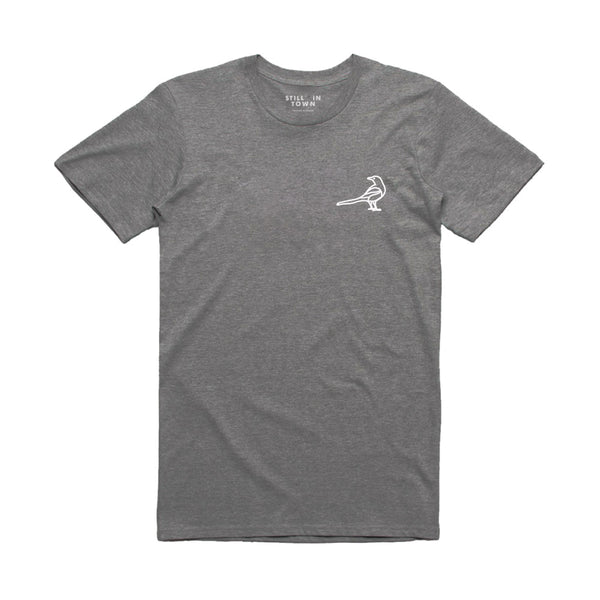 Magpie Badge T-Shirt - Grey