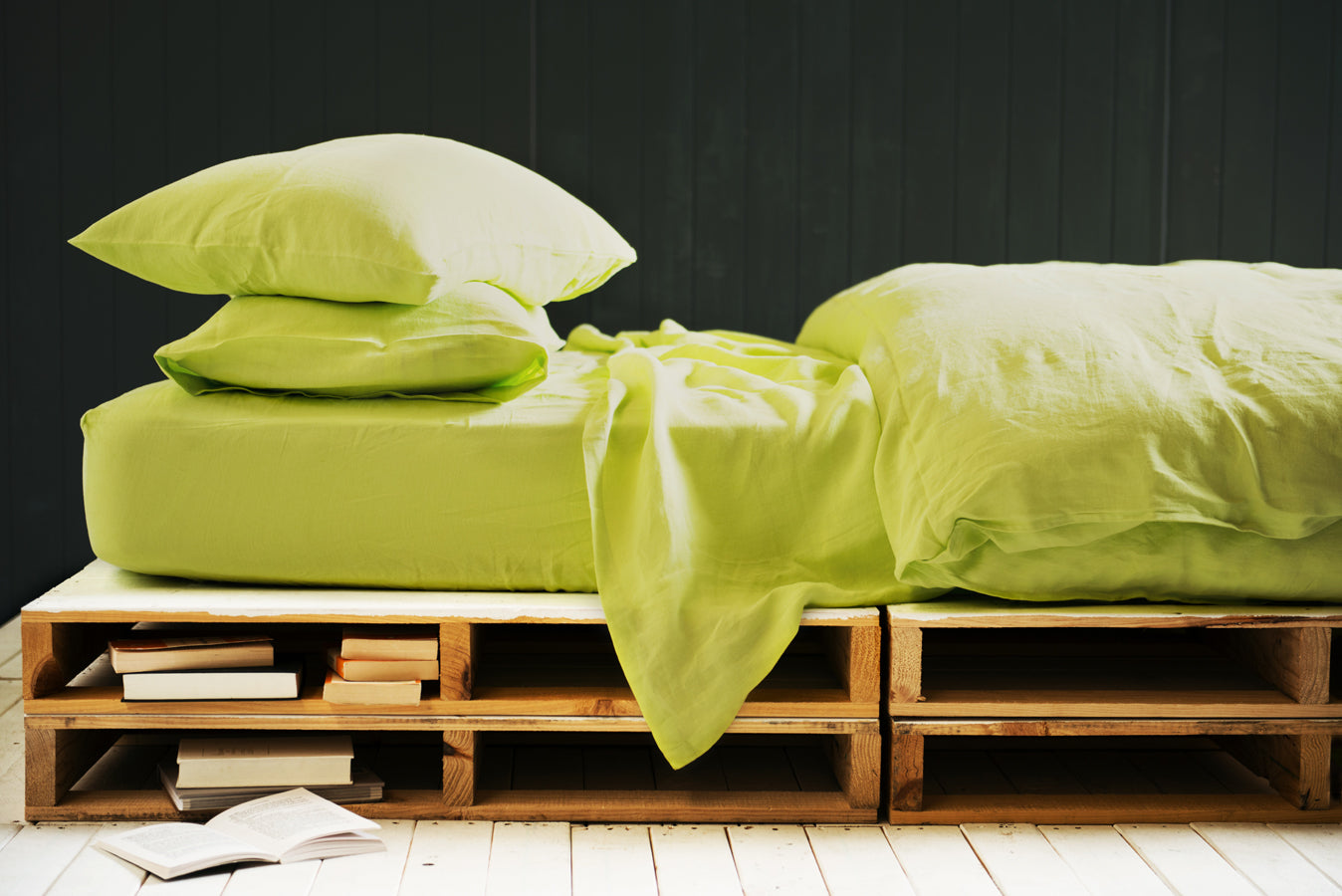 Pillowslip Set in Lime Rush