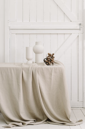 Linen Table Cloth in Natural