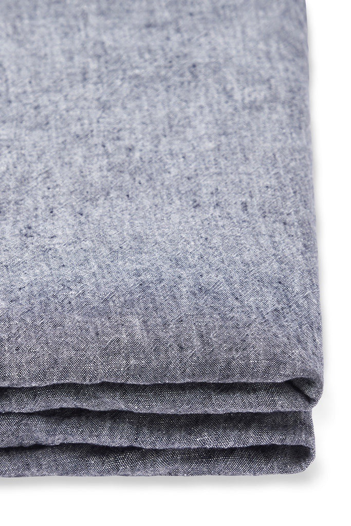 Linen Fitted Sheet in Slate