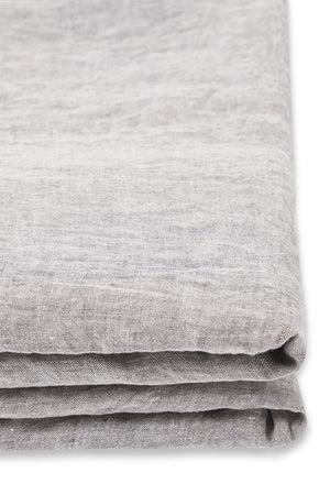 Linen Fitted Sheet in Ash