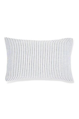 100% Linen Pillowslip Set in French Navy Stripe
