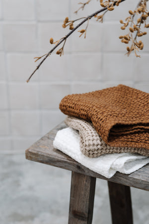 Waffle Towel in Natural