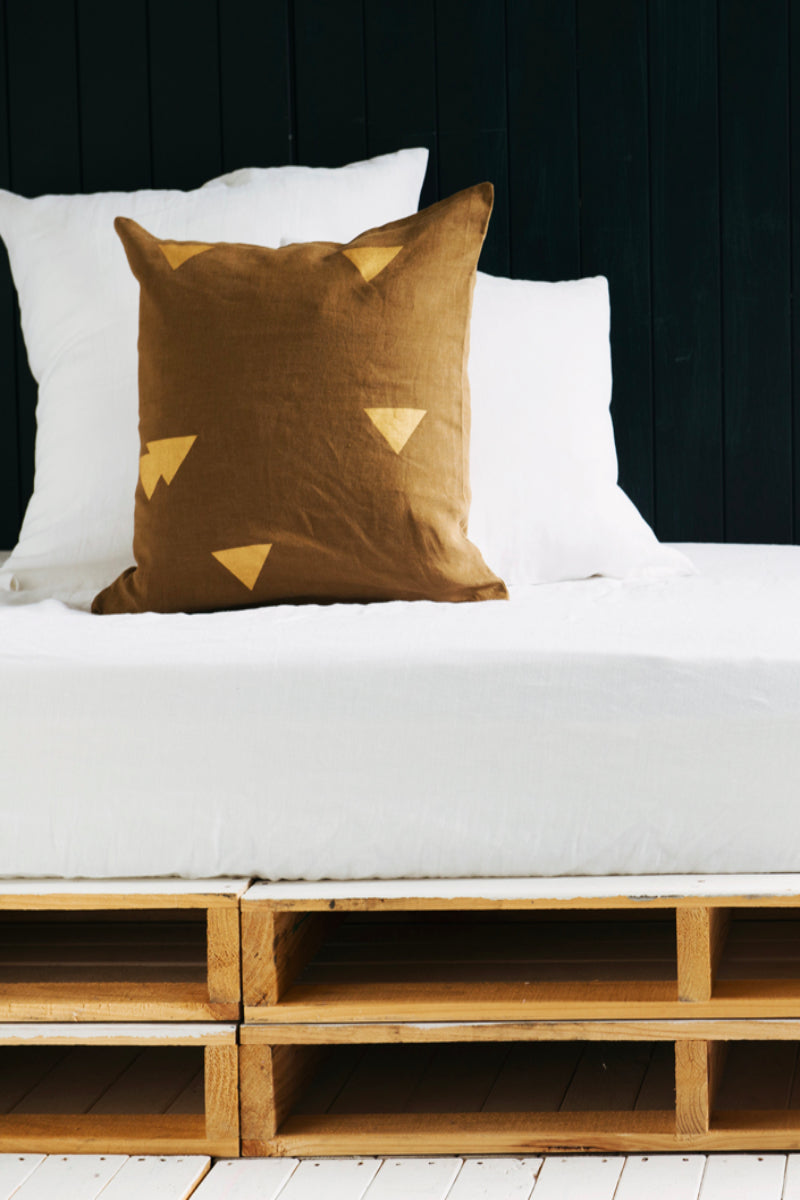 Khaki Cushions Triangle