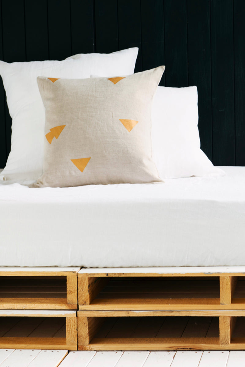 Nude Cushion Cover Sets with Triangles