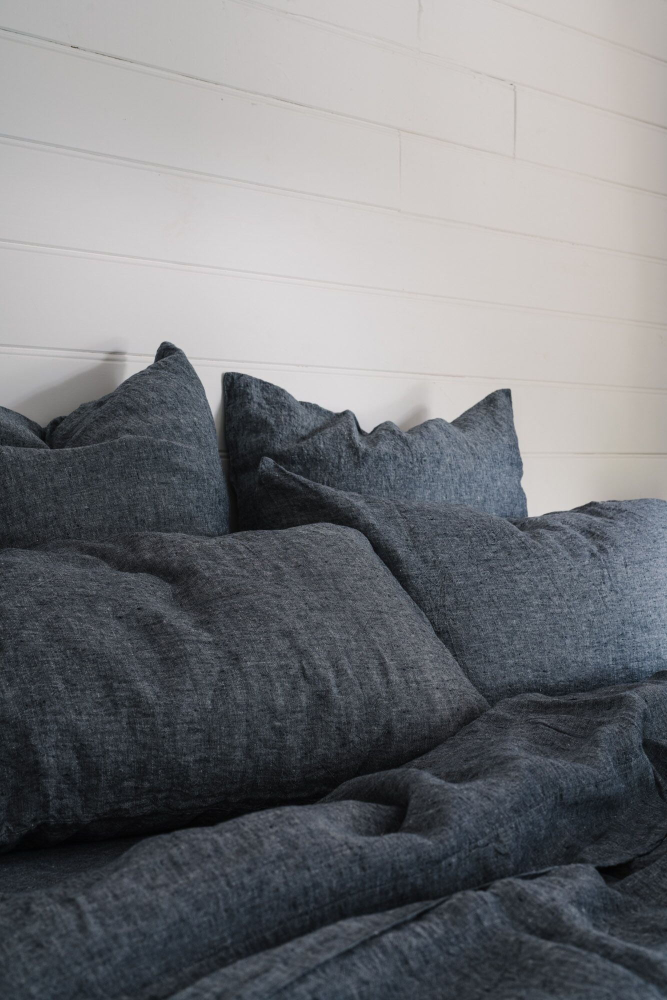 Linen Quilt Cover in Slate