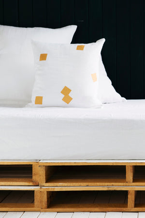 White Cushion Covers with Squares