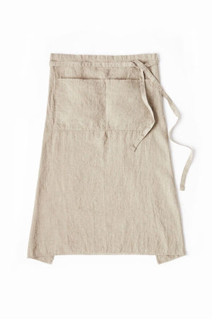 Garcon Full Apron in Flax