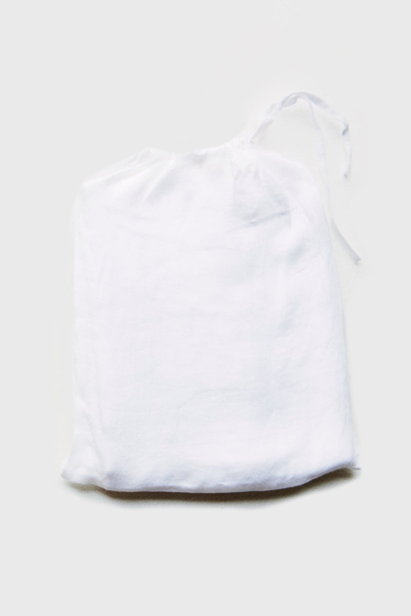 White Linen Throw Squares