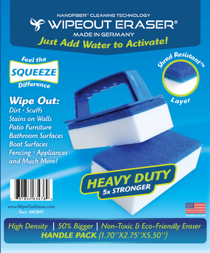 WipeOut Eraser High Density Show Special  3 packs w/Handle