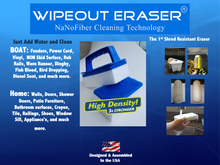"WipeOut High Density Handle pack. ""Magic Eraser On Steroids"""