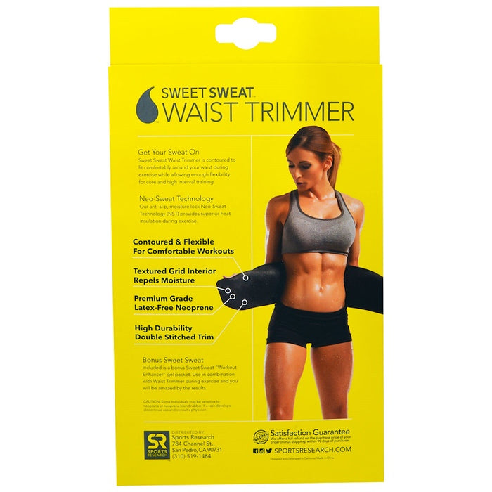 Sweet Sweat Waist Trimmer Belt - Yellow