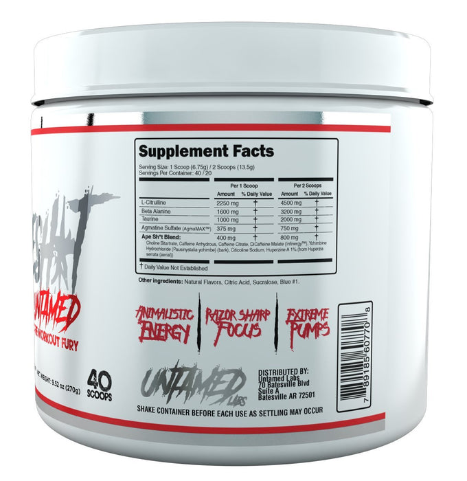 Untamed Labs APESH*T Pre Workout - 40 Serves