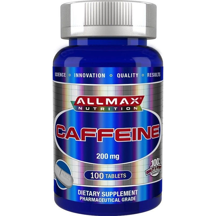 NEW ALLMAX Nutrition Pure Caffeine 200mg x 100 Tablets