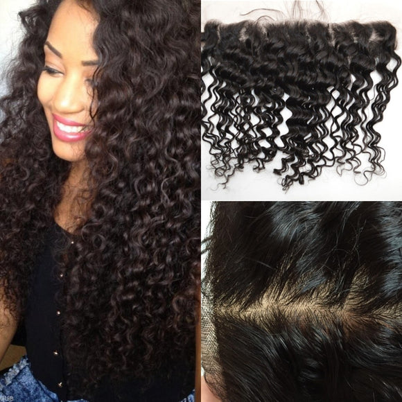 MALAYSIAN DEEP WAVE HAIR 3 BUNDLES FREE LACE FRONTAL