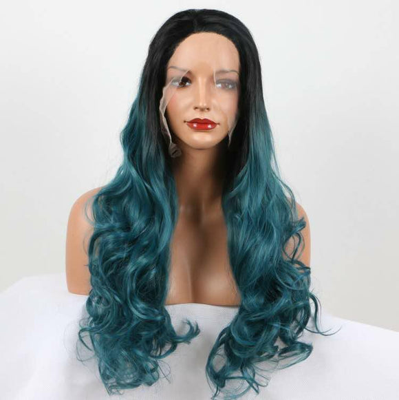 Long Middle Part Soft Waves  Synthetic Wig 26