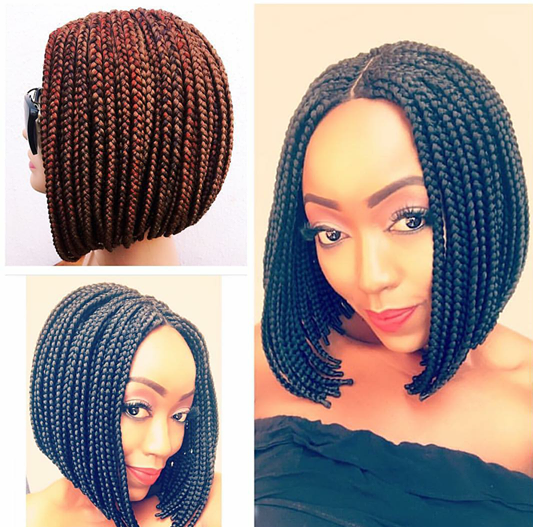 Medium Braid Bob Wig
