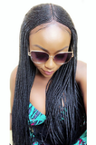 FULANI MIDDLE PART  BRAIDS LACE FRONT WIG W/BABY HAIR(one size)