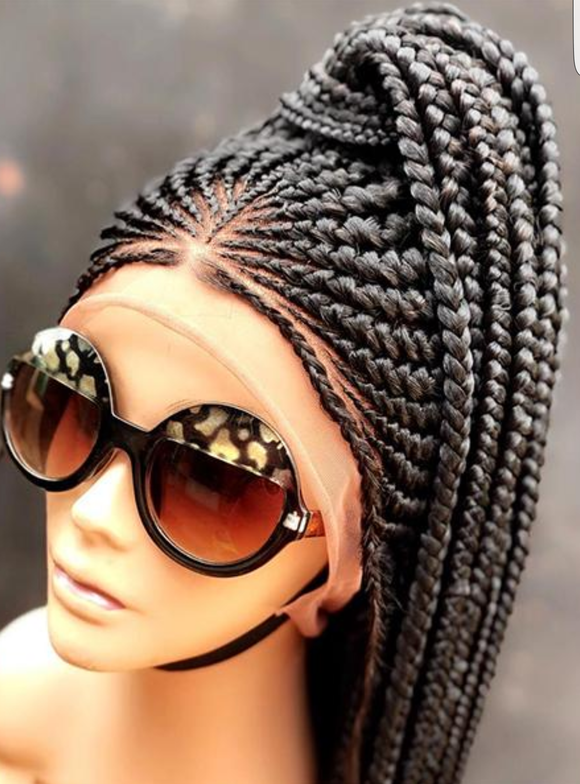 Cornrow Braid Wig French Braids Feed in Braids Box Braids Swim Wig Gym Wig Kardashian Fulani Beyonce Tribal Goddess Braids
