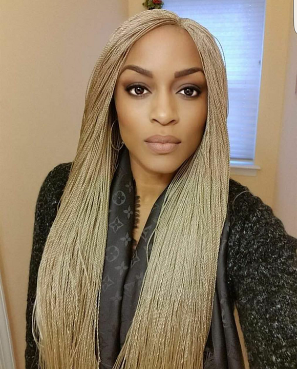 Braided Lace Front Wig MICRO TWIST, Mini twist million braids lace wig