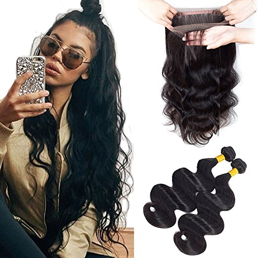 360 Lace Frontal With Bundles Brazilian Virgin
