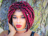 Synthetic Afro Lace Bob Braids